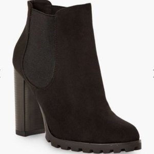 Fay Block Heeled Bootie in Black NWT